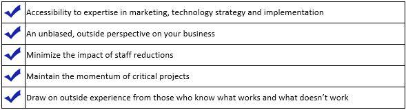 benefits Virtual Marketing Department